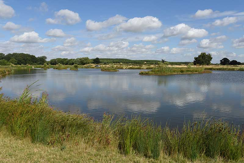 Fishing in picturesque landscape North Nottinghamshire